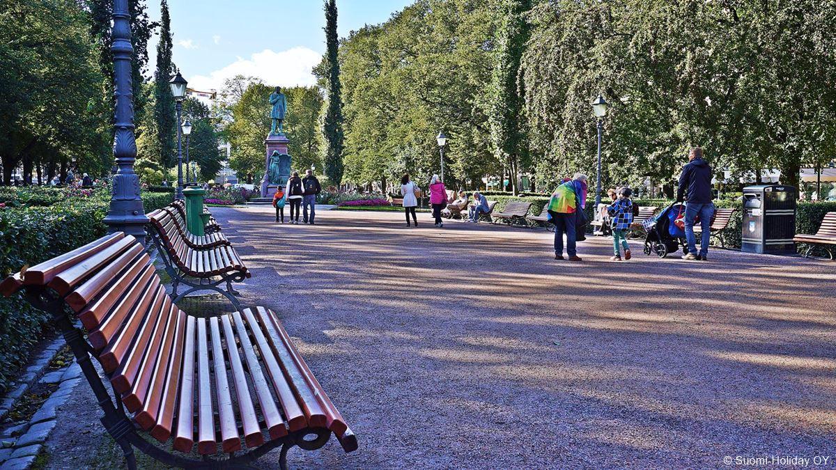 Esplanade Park Helsinki city center