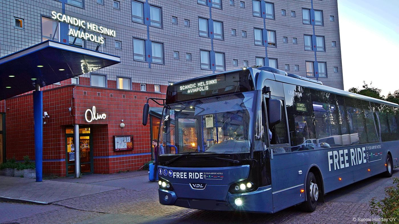 Helsinki airport hotels with free shuttle