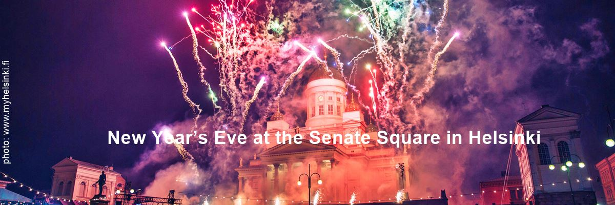 New Year Eve at the Senate Square in Helsinki